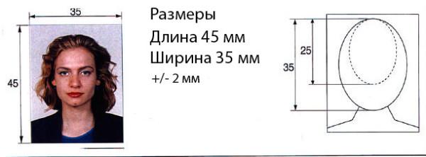 размер фото на визу в болгарию
