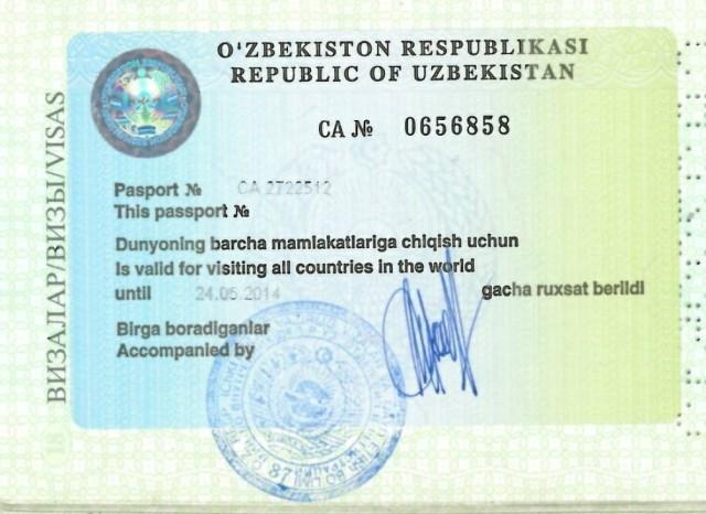 Виза в Боливию выдаётся по прилёте, но её также можно оформить заблаговременно. Жители Узбекистана оформляют визу в Боливию через консульство Боливии в России: 115191, Москва, улица Серпуховской Вал, дом 8, к. 135-137. В паспорте у граждан Узбекистана в обязательном порядке должен располагаться специальный стикер.