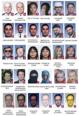 Плохие фотографии на загранпаспорт