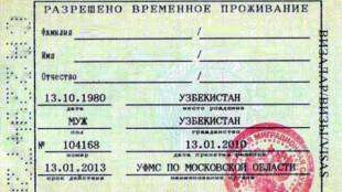 Штамп в паспорте с РВП