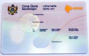 Идентификационная карта гражданина Черногории