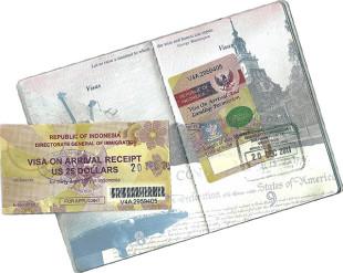 Виза по прибытию в Индонезию