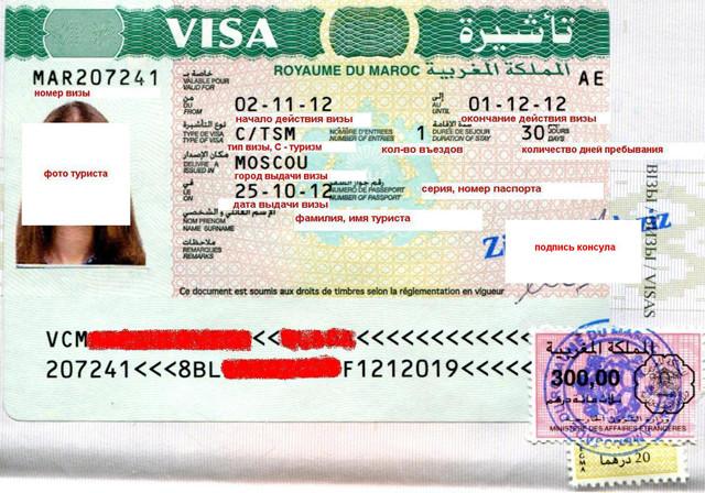 Долгосрочная виза в Королевство Марокко