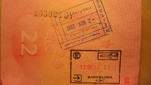 Штамп в паспорте с визой в Монако