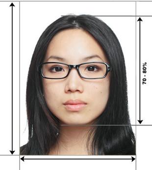 Пример фото для визового разрешения