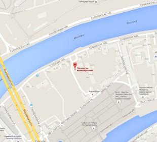 Посольство Великобритании в Москве на карте