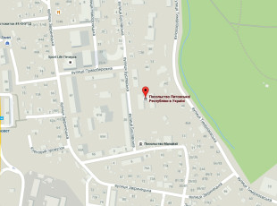 Посольство Литвы в Киеве на карте