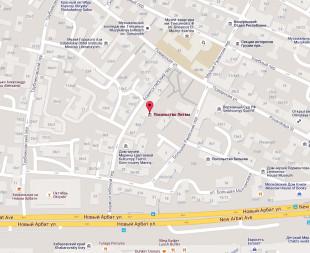 Посольство Литвы в Москве на карте