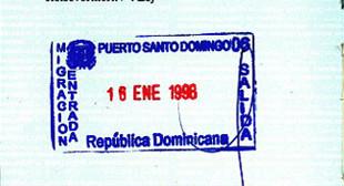 Штамп Доминиканы в паспорте