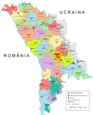 Карта Молдавии