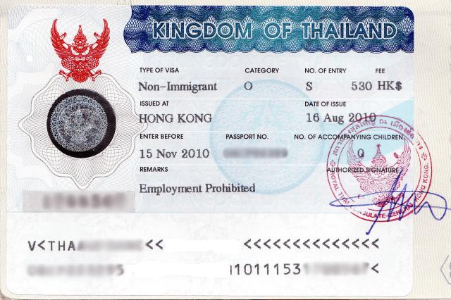 Таиландское визовое разрешение