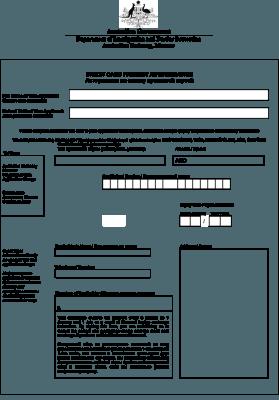 Бланк авторизации на оплату кредитной картой