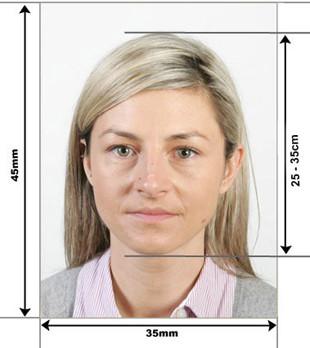 Образец фото на визу