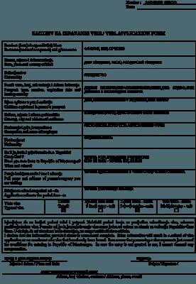 Бланк анкеты с переводом