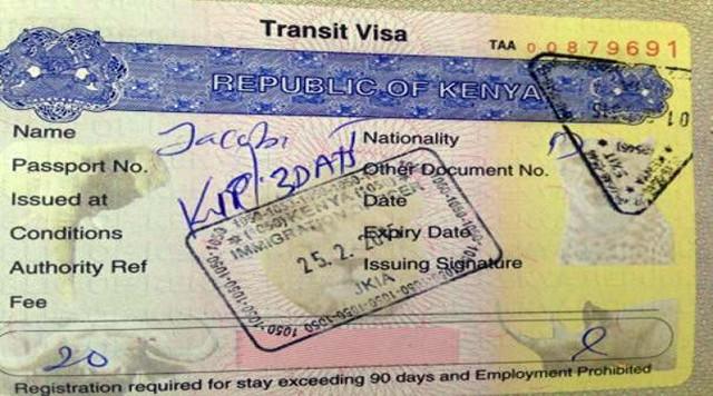 Бланк разрешения на транзит