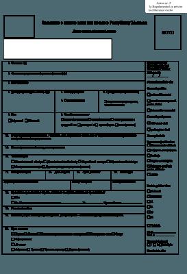 Бланк первой страницы анкеты