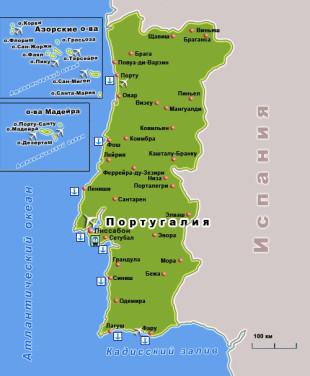 Карта Португальской Республики