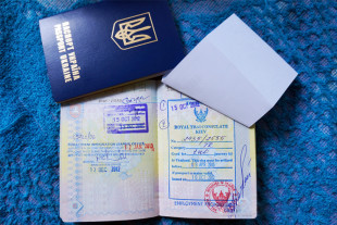 Загранпаспорт с визовым штампом по прилету