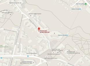 Посольство Великобритании в Киеве на карте