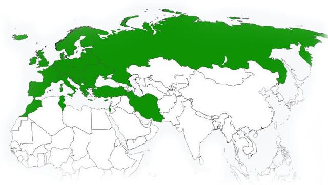 Страны, входящие в зону действия полиса