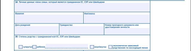 Часть анкеты с данными гражданина ЭС
