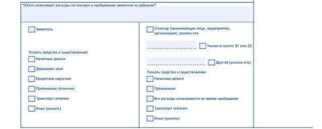 Часть анкеты с данными о спонсоре
