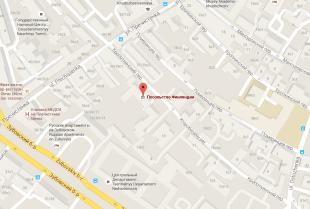 Посольство Финляндии в Москве на карте