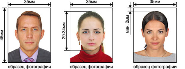 Образцы фото на визу
