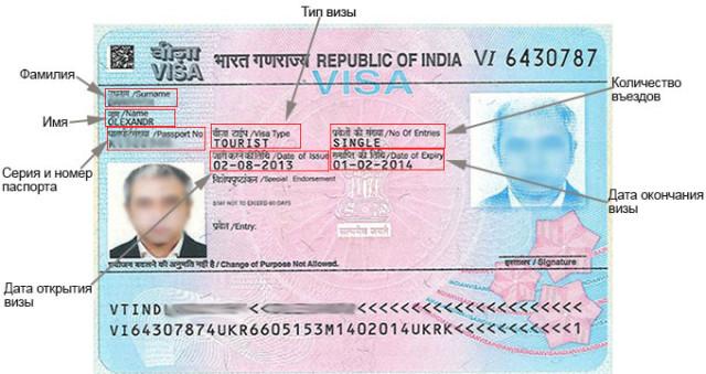 Визовое разрешение в Индию