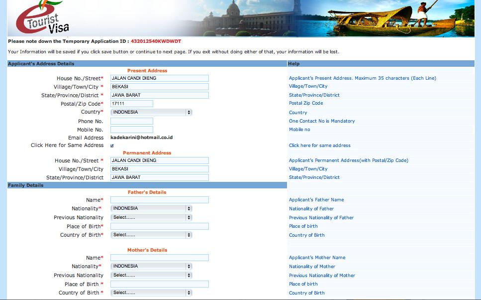 образец заполнения опросника на визу в индию