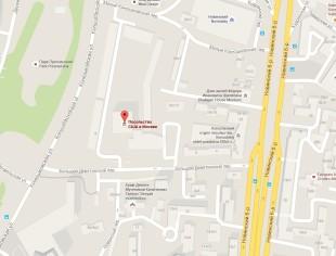 Посольство Америки в Москве на карте