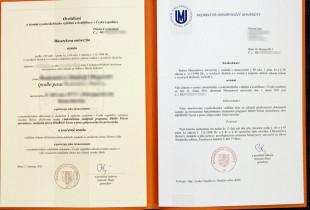 Бланк диплома с переводом