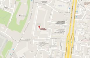 Посольство США в Москве на карте