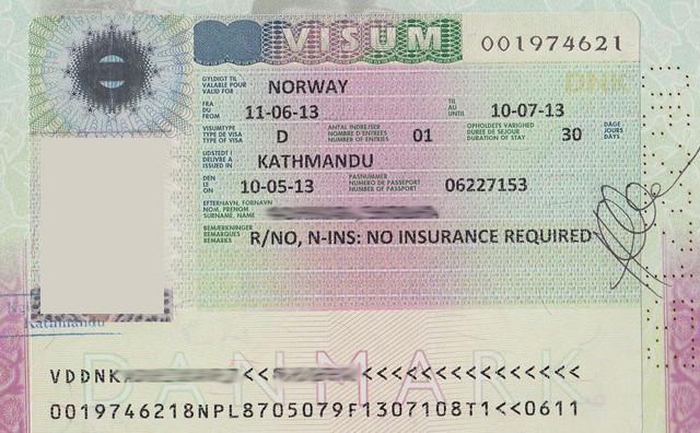 Национальное визовое разрешение