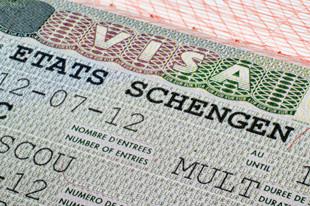 Стикер шенгенской визы