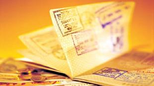 Загранпаспорт с визовыми штампами