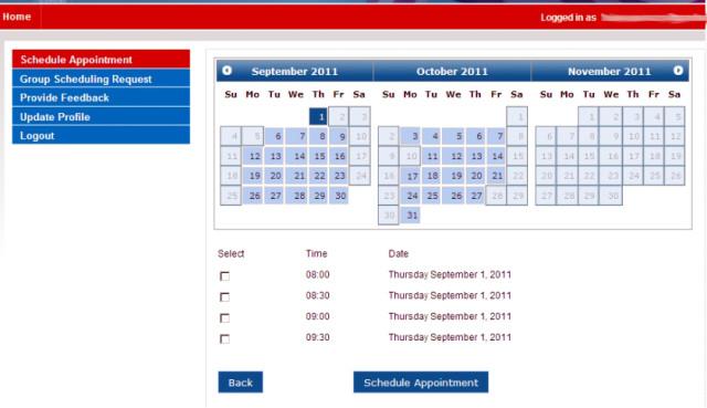 Календарь собеседования