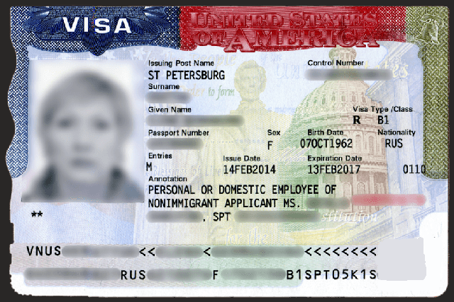 Визовое разрешение для обслуживающего персонала