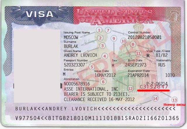 Визовое разрешение в США