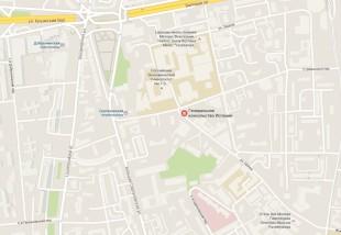 Консульство Испании в Москве на карте