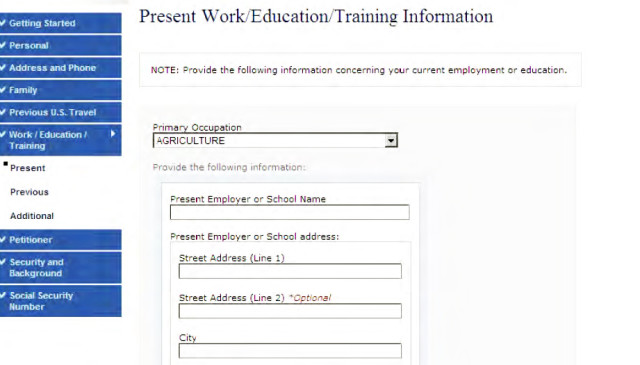 Страница с информацией работнике