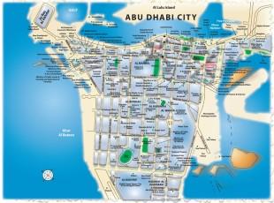 Карта города Абу-Даби