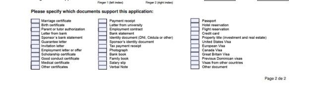 Часть анкеты с данными о документах