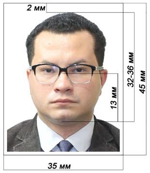 Пример фотографии на документы