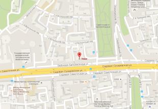 Посольство Ливана в Москве на карте