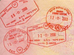 Штампы Израиля в паспорте