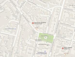 Посольство Польши в Киеве на карте