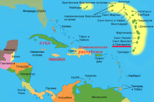 Остров Сент-Винсент на карте