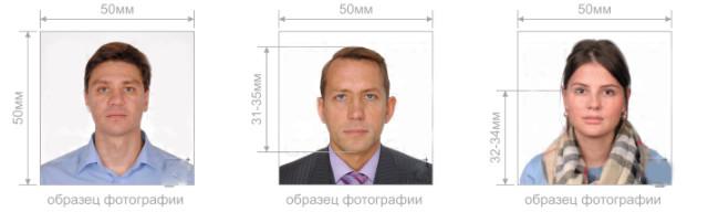 Образцы фотографии на визовое разрешение