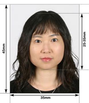 Пример фото на визы